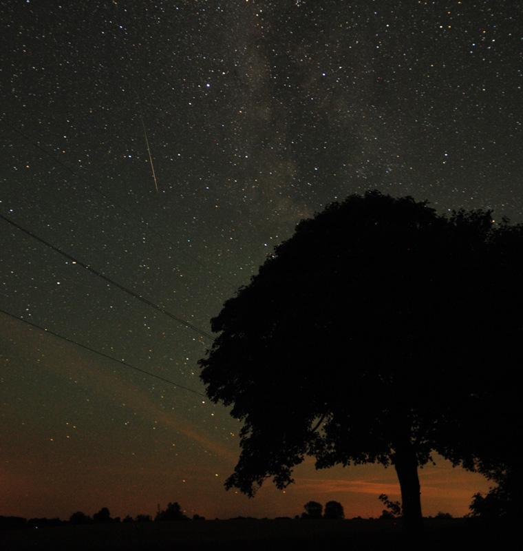 stjerneskud på himlen