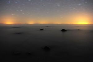 Østersøen med lyset over Tyskland