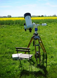 Teleskopet er sat op med nylaget solfilter. Filteret bestod naturligvis.